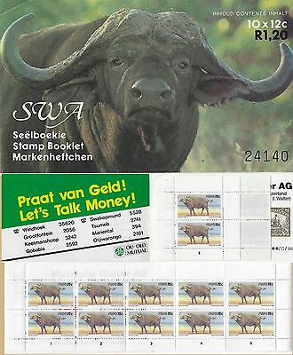 SOUTH WEST AFRICA 1985 Sc485Bc 12c BUFFALO BOOKLET WITHOUT IMPRINT DATE MNH 2955