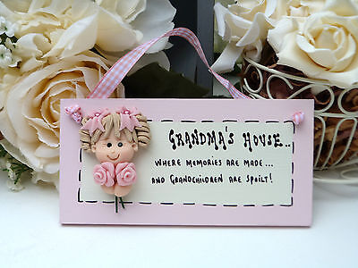 "A102 Ready to ship pretty ""Grandma's House .."" Birthday, Christmas Gift Plaque"