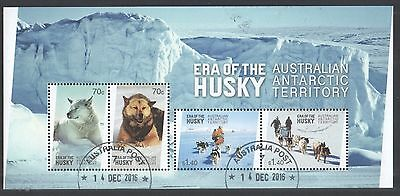 Australia Aat 2014 Era Of The Husky Souvenir Sheet Of 4 Stamps In Fine Used