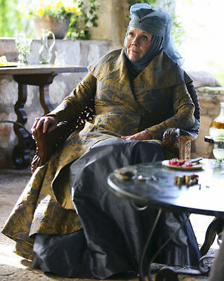 "Dame Diana Rigg 8"" X 10"" Colour Photo Lady Olenna Tyrell Game Of Thrones Actress"
