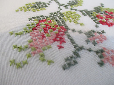 Lovely Vintage Cotton Hand Embroidered Tablecloth