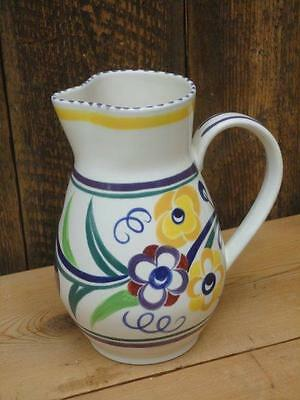 Poole Pottery Jug Colourful Floral Design Collectable J7