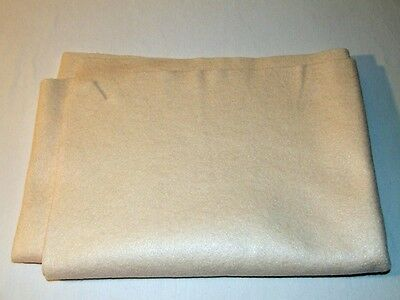 "36""X55""~Beige Acrylic Felt Fabric~Crafts~Sewing~Nonwoven Material~1.5 Sq Yard"