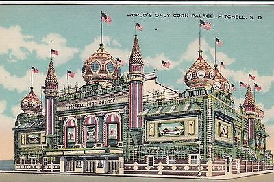 "The Corn Palace Mitchell South Dakota Art Tone ""Glo-Var"" Finish Beals Des Moines"