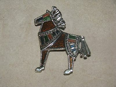 VTG or New Costume Jewelry Signed Danecraft Horse brooch awesome  Must see