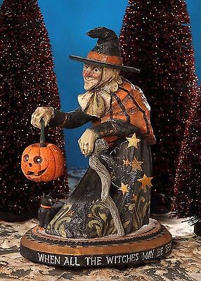 "Bethany Lowe by Pam Schifferl Halloween  ""Witch's Eve"" Figurine PS2976"