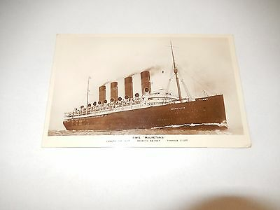 R.M.S. Mauretania photo postcard