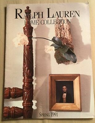 Very Rare Ralph Lauren Home Collection CATALOG Spring 1991 Home Furnishing