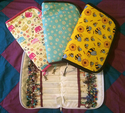 Lace Making Padded Bobbin Case - Holds 40 pairs *Elephans*Buttons*Bumble Bees*