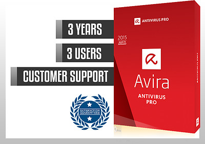 AVIRA ANTIVIRUS PRO 2017 3 YEARS 3 PC | License file