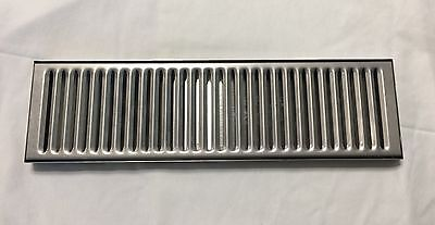 """Stainless Steel Drip Tray 15"""" x 4"""" No Drain Kegerator Man Cave Beer"""