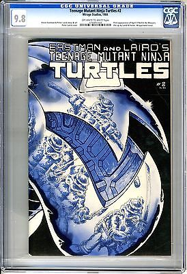 Teenage Mutant Ninja Turtles #2 first print cgc  9.8 off-white to white pages
