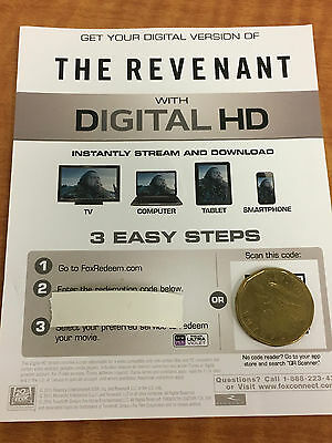 The Revenant HD Digital Code ONLY
