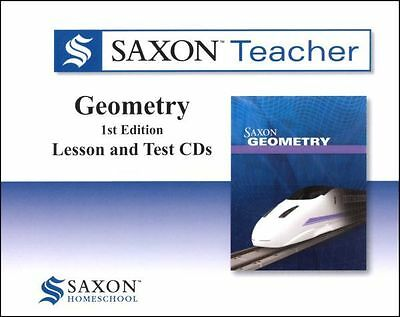Saxon Math Geometry Homeschool Teacher CD-Roms Videos Tests Lessons