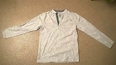RJR John Rocha boys long sleeve t shirt white with light gray age 11-12