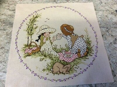 New Summer picnic completed cross stitch