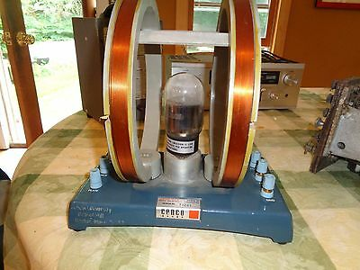 Cenco 71267 tube Specific Charge of Electron Apparatus Helmholtz Coil Central Sc