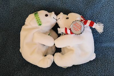 Coca Cola Kissing Polar Bears Holiday Set - New Condition with tags