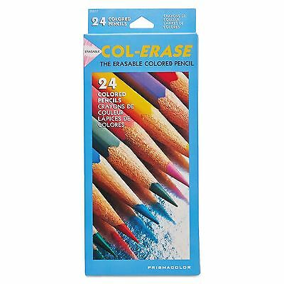 Prismacolor Col-Erase Colored Woodcase Pencils with Eraser - 24 Pencils * NEW *