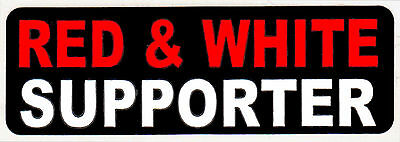 """Hells Angels Big House Crew """"red & White Supporter"""" Stickers - Bk"""