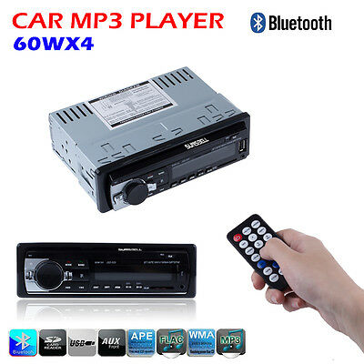 2017 Car Radio Bluetooth 1DIN In Dash 12V SD USB IPOD Aux In FM Stereo Player CA