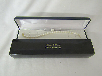 Akoya Cultured Pearl Collection Vtg Pearl Bracelet W/orig Box Classic Gift(5642)