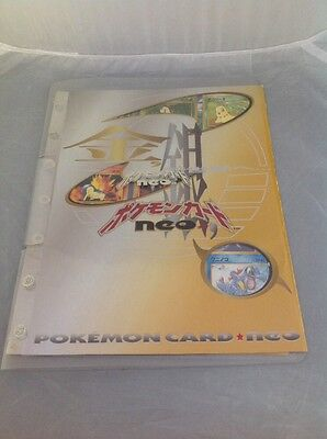 Pokemon Neo 9 Cards And Folder. New.