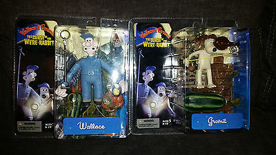2 WALLACE WALLACE AND GROMIT THE CURSE OF THE WERE-RABBIT MCFARLANE FIGURES New