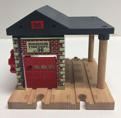 Thomas the Train Wooden Sodor Fire Station Dept No 36 Lights & Sounds