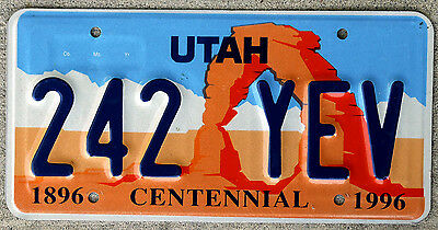 Utah Centennial License Plate featuring Arches National Park