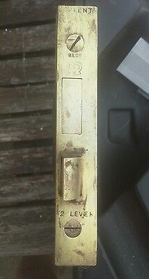 Antique 2 Lever Victorian Horizontal Rebated  Mortice Lock and 1 Key