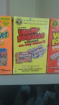 wacky packages series 2 -bonus box yellow box