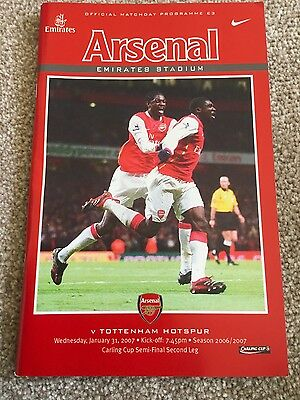 Arsenal v Tottenham Hotspur  (League Cup Semi-Final) 2006-2007