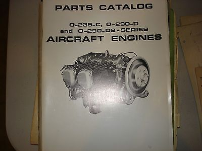Avco Lycoming 0-235-C, O-290-D and 0-290-d2 series Aircraft Engines, Parts cat