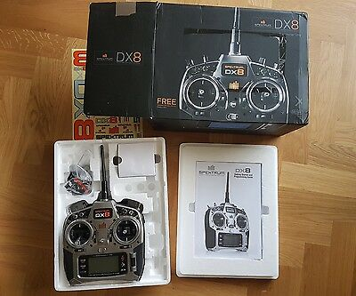Spektrum DX8 RC 2.4ghz DSMX transmitter with telemetry, in original box