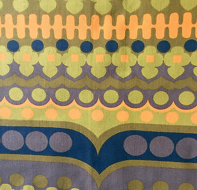 "1960s/70s VINTAGE COTTON FABRIC. ""DATA"" DESIGNED BY PETER HALL FOR HEALS"