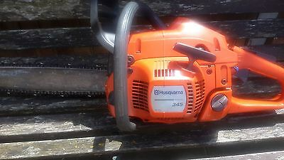 """Husqvarna 345 Chainsaw With 15"""" Bar Approx 45% On Chain Spares Or Repair"""