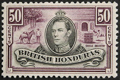 British Honduras 1938 50c Chicle Industry SG158 Mounted Mint cat value £35