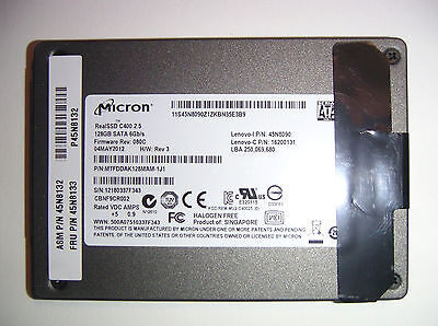 "128GB Micron Real SSD C400 2,5"" 6.0Gbps (SATAIII) - tested s.Fotos/pics!"