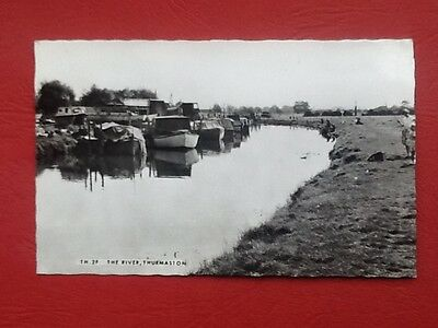 #369 The River,Thurmaston,near Leicester,real photo.