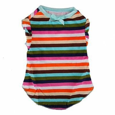 Chihuahua Teddy Striped T Shirt Small Dog Puppy Pet Cat Clothes Clothing Coat