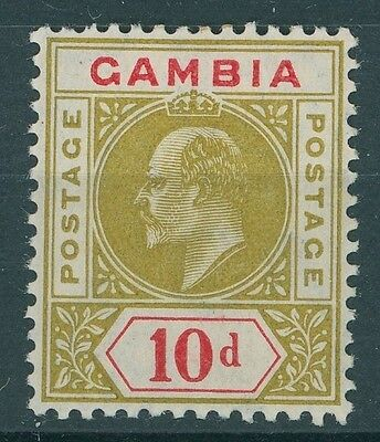 Gambia 1904 10d olive and carmine MM