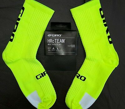 Cycling socks Mens Womens size 6-12 flourescent yellow and white bnwt