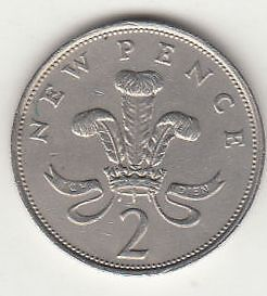 Silver coloured 2p Coin 1971 New Pence - First Year Of Issue Error?