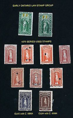 Stamps - Canada - Revenues - Ontario Law Stamp Starter Group