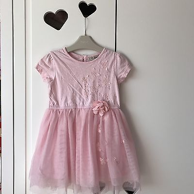 Baby Girls Pink Lace Tutu Floral Dress From Next Very Cute 12-18 Months