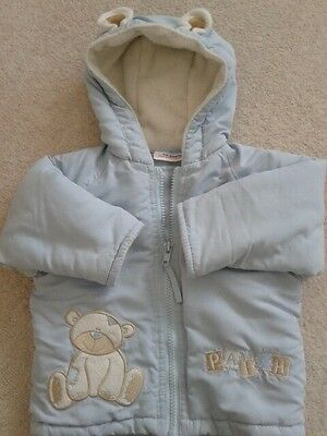Baby jacket size 0-6 months in blue