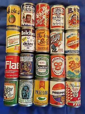 Vintage Set of 20 Fleer Chug-A-Can Candy Cans