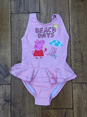 Next Baby Girl Swimming Costume Peppa Pig Design 6-9 Months New