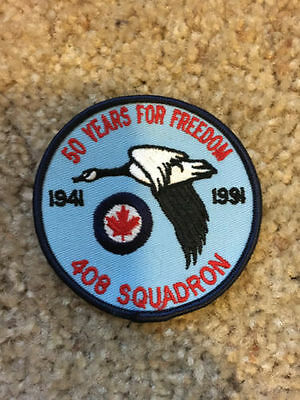 RCAF CAF Canadian 408 Squadron 50th Anniversary Crest Patch Badge 3""